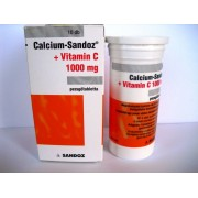 CALCIUM-SANDOZ+VITAMIN C 1000MG pezsgõtabletta 10x
