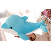 New 30 cm goods High Quality dolphin dolphins plush pillow doll (blue)
