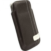 Krusell Gaia Large Slim Mobile Pouch for iPhone 4/4S and other Smartphones with 3.5/4.0 inch Screen - Brown