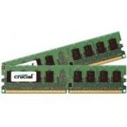 Crucial - DDR2 - 2 Go : 2 x 1 Go - DIMM 240 broches - 667 MHz / PC2-5300 - CL5 - 1.8 V - mémoire enregistré - ECC - pour ASUS KFN32-D SLI