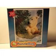 PuzzleBug 100 piece puzzle Polar Bear and Cub
