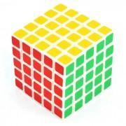 65mm 5 * 5 * 5 matte pegatinas cubo de rubik magico - blanco + multi-color