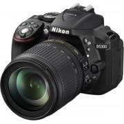 Aparat Foto D-SLR Nikon D5300 (Negru), cu Obiectiv 18-105mm VR, Filmare Full HD, 24.2MP