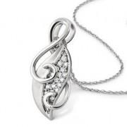Platinum Earrings designed as Leaves SJ PTO E 108