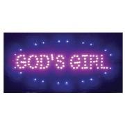 Led Light Up Sign God's Girl