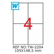 Etichete A4 , 105 x 148,5mm , TW 2204
