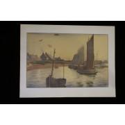 L'estampe Moderne Tristesse Sur La Mer Lithographie Originale Edition Originale