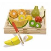 Set fructe lemn pentru taiat - Melissa & Doug