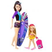 Barbie - Pack de 2 muñecas hermanas: Skipper y Chelsea (Mattel CBR17)