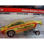 Hot Wheels Real Riders Chevy Drag Strip Demon Pisano & Mastubara '74 Vega #11 Extreme Detail 1/64 Scale Collector by h