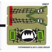 "Lego Original Sticker Sheet for The Legends of Chima Set #70001 ""Crawley's Claw Ripper"""