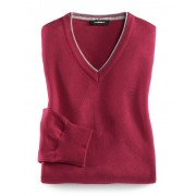 Walbusch Baumwoll- Mix Pullover Rot 56
