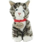 Hamleys 8-inch Sitting Gray Tabby Cat W.Bean, Multi Color