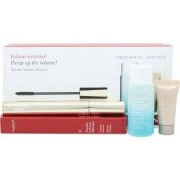 Clarins Wonder Volume Geschenkset 7ml Mascara 01 Black + 30ml Instant Eye Make-Up Remover + 5ml Instant Concealer