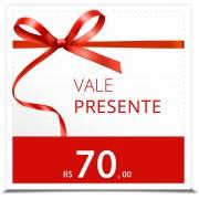 Vale Presente R$ 70,00 (1 conjunto de lingerie)