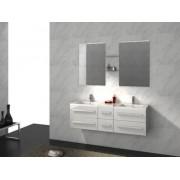 items-france RIVIERA2 BLANC - Meuble salle de bain double vasques suspendu 150x4...