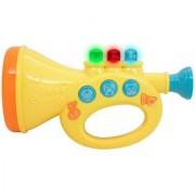 Techege Toys LearnnPlay Large Musical Trumpet Fun Lights Music Jukebox Great for Kids Beginner Trumpet