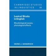Lexical Strata in English by Heinz J. Giegerich