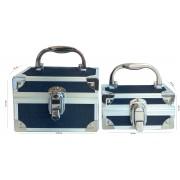 Winsor Set dos maletines aluminio y tela vaquera