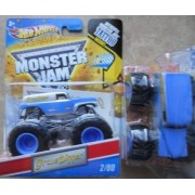 Grave Digger (Blue Silver) - Hot Wheels Monster Jam 2011 Tatoo Series #2/80 1:64 Scale (Small Version) by Hot Wheels