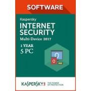 Kaspersky Lab Kaspersky Internet Security Multi Device 2017 1 jaar 5 PC