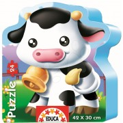 EDUCA 14961 Puzzle siluetă Văcuţă 24 bucăţi 42*30 cm