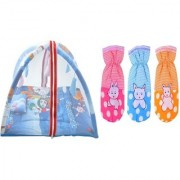 CHHOTE JANAB BABY COMBO OF PLAY GYM AND 3 BOTTLE COVERS