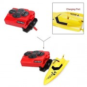 Best Forever 6 Inch RC Boats Radio Control Electric Powered 40MHz Racing Boat Toys Torpedo Boat Toys,Yellow