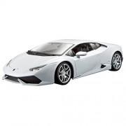 Bburago - 2043128 - Véhicule Miniature - Modèle À L'échelle - Lamborghini Huracan Lp 610-4 - Blanc - Echelle 1/18