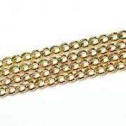 Corrente Folheado a Ouro Grumet 60cm / 5.0mm