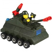 Magideal 98Pcs Educational Building Block Intelligence Kid Puzzle Toy Army Pard Tank