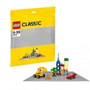 LEGO Classic 10701 - Base Gioco di Costruzioni, Grigia