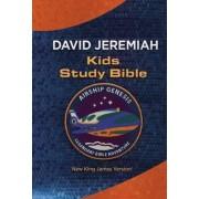 NKJV: Airship Genesis Kids Study Bible: TechTile Leather Edition by David Jeremiah