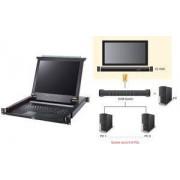 "Aten 19"" KVM Konsole mit 43,18 cm (17"") LCD-Monitor, schwarz (CL1000G)"