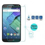 Moto x Pure Edition With Alcahol Wet Cloth Dry Cloth, Ultra Clear, Free Bubble,Anti Explosion,Pro+ 2.5D Pro Tempered Glass For Moto x Pure Edition
