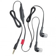 Nokia WH-205 Stereo In-Ear Headphone with Mic (Black) - Compatible with select Nokia phones