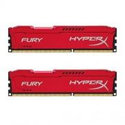 HyperX Fury HX318C10FRK2/8 Mémoire RAM 8Go 1866MHz DDR3 CL10 DIMM Kit (2x4Go) Rouge