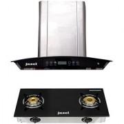 Jazel Optima 60Cm 1100M3/H +2 Burner Cooktop (Combo Set Offer)