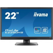 "Monitor TN iiyama 21.5"" ProLite E2280HS-B1, Full HD, DVI-D, HDMI, 5ms, Boxe (Negru)"
