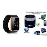 QWERTY Bluetooth Speaker(S10 Speaker) & GT08 Smart Watch for HTC DESIRE 530