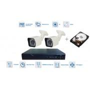 Bezpečnostní kamerový systém 2xkamera 720P s 20m IR a DVR + 1TB
