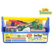 Easy bolt tool series from Little Treasures 14 piece kid's deluxe tools pretend and play tool play set with tool tote bag