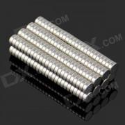 3 x 1mm NdFeB Neodymium Magnet cylindre circulaire bricolage Puzzle jeu - argent (200 PCS)
