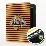 NRL Licensed West Tigers PU Leather Wallet Case for iPad Air 2