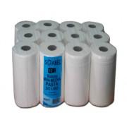Bobina de papel secamanos de una capa mini-mecha y acabado liso 12 ud