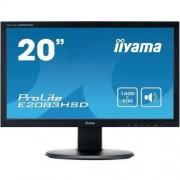 "IIYAMA Monitor LED Iiyama E2083HSD E2083HSD, 19.5 "", DVI, VGA, Słuchawki (jack 3,5 mm), 1600 x 900 px, 16:9, 5 ms"