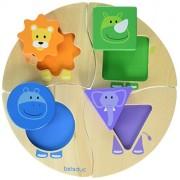 Hape 18004 - Funny Four - Puzzle con Forme e Animali