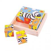 BigJigs Toys - Puzzle con marco, 9 piezas (BJ512)