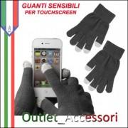 Guanti Unisex per Touchscreen Touch Sensibili per Iphone Ipod Ipad Galaxy Blackberry HTC