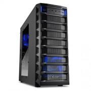 8 Sharkoon Rex Value PC-alloggiamento Midi-Tower (ATX, 4 x 5, 25 esterna, 4 x 2,5/3,5/5,25 internagb, 2 x USB 3,0) Nero nero